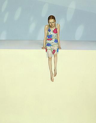 Margherita Manzelli, Il vascello fantasma, Nottem, 2000 olio su lino 250 x 200 cm courtesy Studio Guenzani, Milano