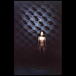 Margherita Manzelli, Il vascello fantasma, Mr. Grigio, 2003 olio su lino 300 x 200 cm courtesy l'artista e greengrassi, Londra
