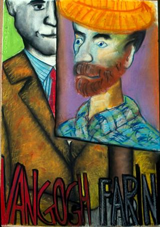 Membership Viafarini - 80 manifesti per Viafarini, Manifesto di Marco Cingolani: Van Gogh / Farini a pastello