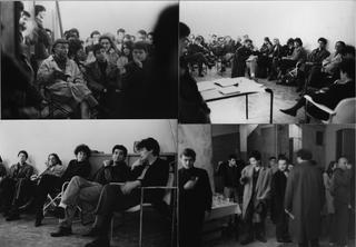Immagini proiettate, All'inaugurazione fecero seguito degli incontri, a cui partecipavano parecchi amici. Tra i presenti si intravedonoGiacinto Di Pietrantonio e Gregorio Spini