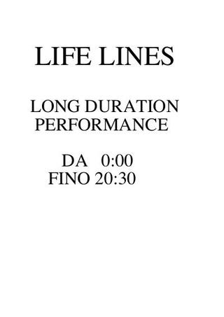 """Franz Gerald-Krumpl, """"Life lines"""", performance di della durata di venti ore."""