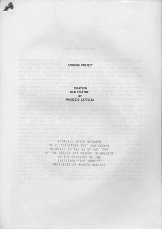 Maurizio Cattelan, Sponsor Project, 1991