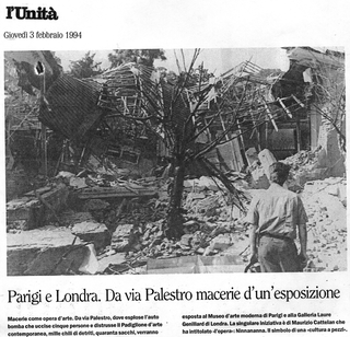 Maurizio Cattelan, L'Unità, 1994