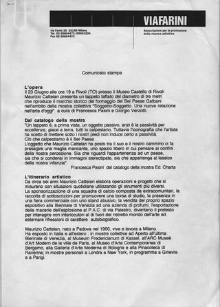 Maurizio Cattelan, Il Belpaese, 1994