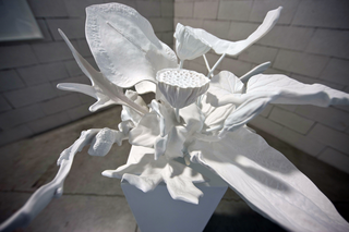 La fioritura del bambù, Carla Mattii, Type #8, 2009 nylon sintetizzato, resina poliuretanica 33 x 40 x 49 CM Foto di Zeno Zotti Courtesy unosunove arte contemporanea, Roma