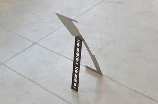Gabriele Garavaglia, W 3 L λ, λ (2012) Steel, oil paint, cardboard, acrylic spray paint 79 x 21 x 40 cm