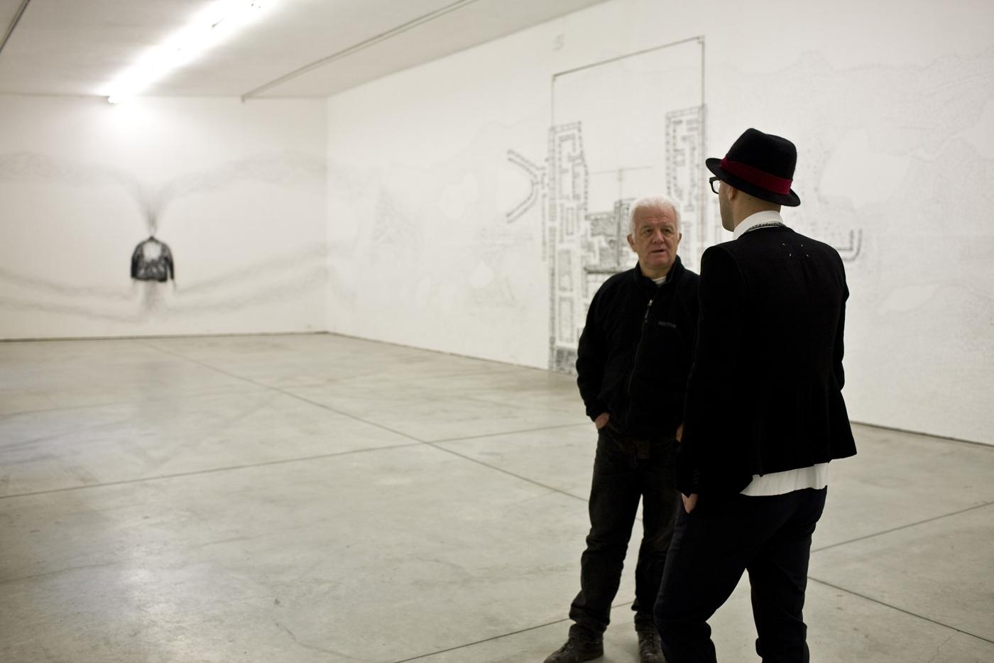 Kim Jones, residenza, mostra e workshop, Kim Jones e Nico Vascellari. Foto di Zeno Zotti