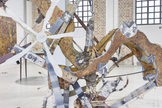 Enej Gala, Prefabrick - Walking with Art Prize 2015, Prefabrick, 2015 installazione meccanica,(dettaglio) Foto: Giulia Alli