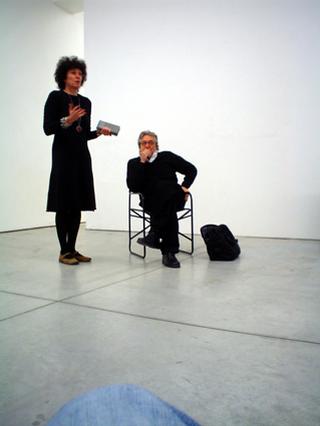 """Workshop per giovani artisti """"Wherever We Go - Ovunque andiamo"""", Workshop con Antoni Muntadas: introduzione di Patrizia Brusarosco."""