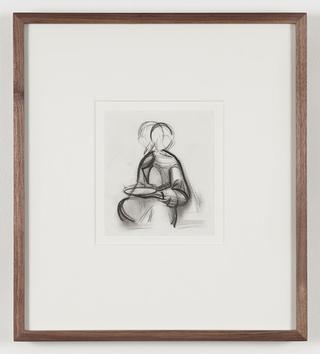 Pietro Roccasalva, O.H. Situazione d'opera in quattro stanze, Pietro Roccasalva, Study for Il Traviatore, 2011, charcoal on paper