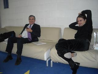 People | Family, Alvise Chevallard, Artegiovane, e Milovan Farronato nell'ufficio alla Fabbrica del Vapore parlano diell'archivio online Italian Area, 2010