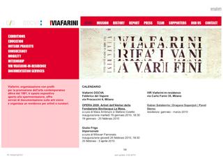 La Storia dell'Archivio - 4 - Comunicazione della programmazione, Navone, il sito di Viafarini.