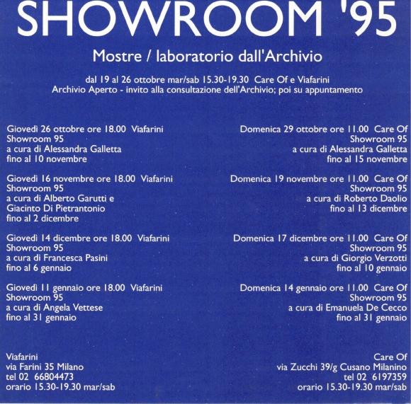 Showroom 95 Mostre laboratorio dall'Archivio