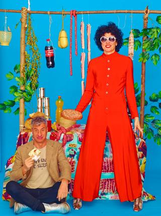 People | Family, Patrizia sul set di Toilet Paper, con Maurizio Cattelan, 2014