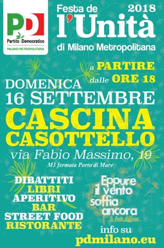 Intercultura - Capitolo 19 Un anno dopo: le attività fioriscono, Festa de l'Unità di Milano Metropolitana alla Cascina, 2018