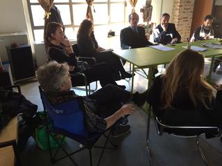 Intercultura - Capitolo 1 Modou Gueye, Assemblea dell'associazione FdVlab. Sa sinistra: Giorgio Reali, Lisa Farmer, Ranuccio Sodi, Paolo Righetti, Alessandro Nassiri.