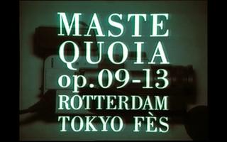 MASTEQUOIA op. 09-13 Rotterdam, Tokyo, Fès, Mastequoia op. 09-13. Rotterdam, Tokyo, Fès, 2009-2013 Still da video