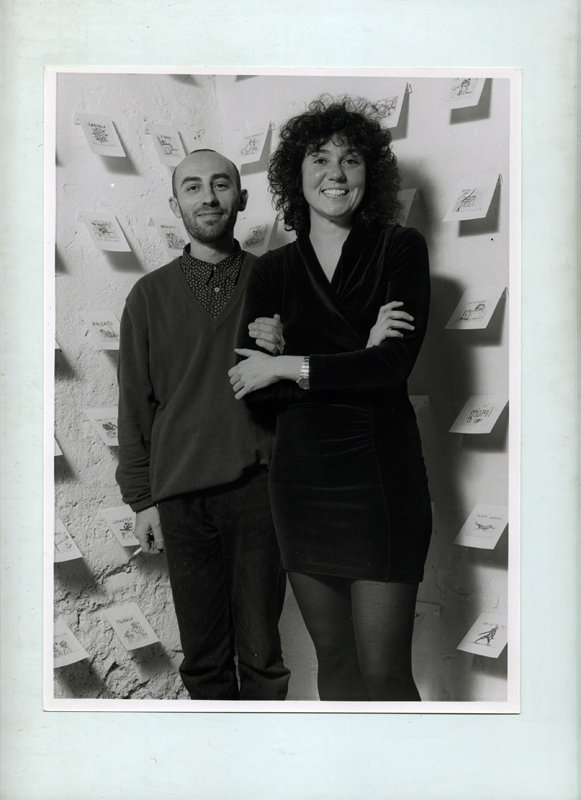 People | Artists, Alessandro Pessoli e Patrizia, 1992