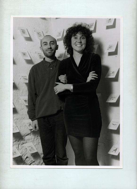 People | Artists, Alessandro Pessoli e Patrizia, 1992