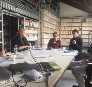 Grand Tour d'Italie, Hedwig Fijen (direttrice Manifesta), Els van Odijk (direttrice Rijksakademie) e Simone Frangi