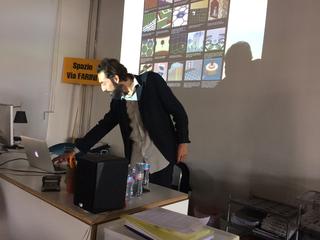 People | Artists, Riccardo Arena durante il workshop per i funzionari del Ministero, 2017