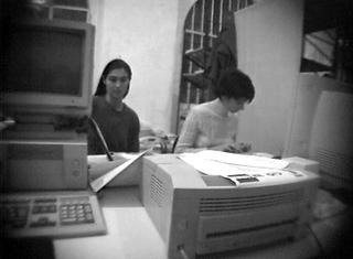 La storia dell'Archivio - 1, Alessandra e Monica. Foto di Mario Gorni.