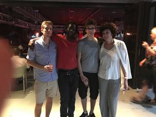 Intercultura - Capitolo 17 DouDou Ndiaye Rose e Youssou N'Dour, Luca Grillone, Modou Gueye, Roberto Infurna e Patrizia Brusarosco al concerto diYoussou N'Dour, 2018