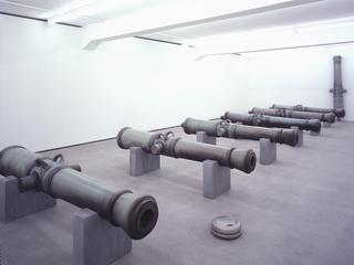 Valentin Carron, Luisant de sueur et de briantine, Rellik, exhibition view at Eva Presenhuber Gallery, Zurich, 2005.