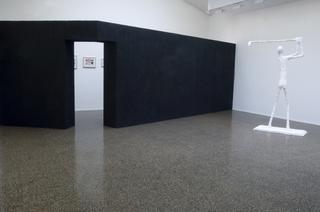 Valentin Carron, Luisant de sueur et de briantine, Exhibition view at Centre culturel Suisse, Paris, 2008.