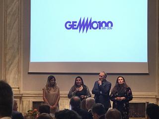 Gemmo SpA, Susanna, Irene, Mauro e Corinna Gemmo al ricevimento in occasione del Padiglione Italia alla Biennale di Venezia 2019.