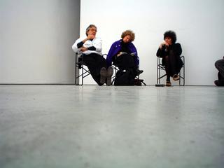 "Workshop per giovani artisti ""Wherever We Go - Ovunque andiamo"", Antoni Muntadas, Gabi Scardi e Patrizia Brusarosco."