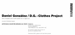 Daniel Gonzalez - Clothes Project, Sono incazzato nero e tutto questo non lo voglio più, Il retro dell'invito.