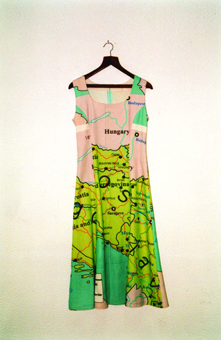 "Maja Bajevic, Avanti Popolo, Maja Bajevic, Dressed Up, 1999, seven-hour performance / video (60'55"") / dress.