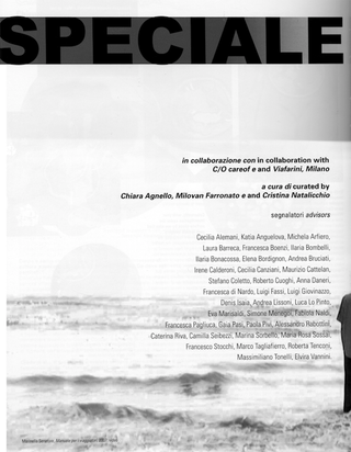 La storia dell'Archivio - 1, Numero speciale Work a cura di Fabio Cavallucci.