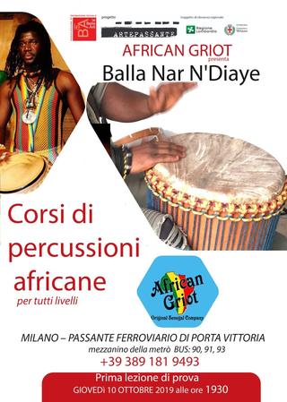 Intercultura - Capitolo 5 Attività attività attività, Uno dei corsi organizzati da Balla Nar Ndiaye Rose in varie sedi cittadine dove i tamburi non disturbano