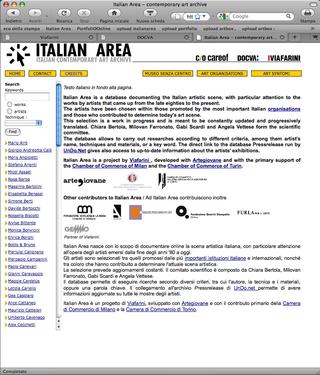 La Storia dell'Archivio - 3 - Italian Area, Italian Area.