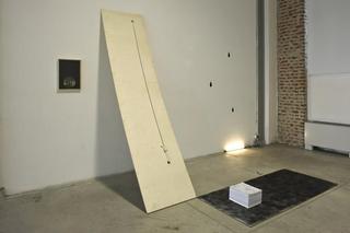 Il raccolto d'autunno è stato abbondante, Renato Leotta Germinal, 2009 installazione: legno, corda, tempera dimensioni variabili