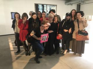 People | Artists, Francesca Pasinicon le artiste di Vetrine di Libertà, tra cui Alessandra Caccia, Marzia Migliora, Maria Morganti, Elisabetta Di Maggio, 2019