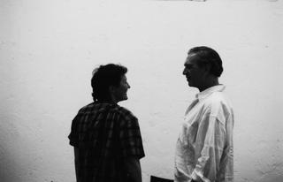 Jimmie Durham, Jimmie Durham con Zeffirina Castoldi, cofondatrice di Careof, 1997