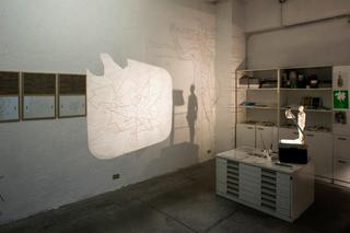 VIR Viafarini-in-residence, Open Studio, Maria Pecchioli, veduta dell'installazione