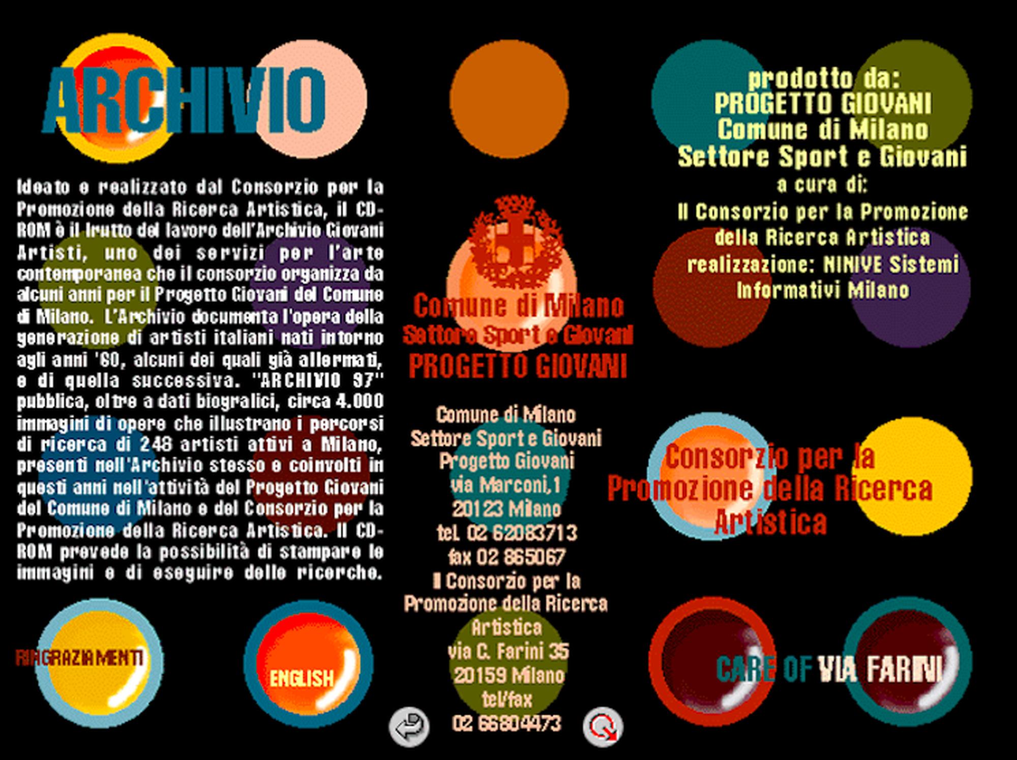 La Storia dell'Archivio - 2 - CD-ROM Archivio '97