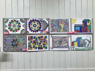 Intercultura - Capitolo 19 Un anno dopo: le attività fioriscono, I lavori di Malak, artista Maliano rifugiato in Italia, esposti alla CascinaC.I.Q.