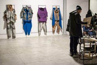 Il confine è ortogonale al transito, Parte dei costumi realizzati da Canedicoda attraverso il workshop e il dialogo con i performer e attori