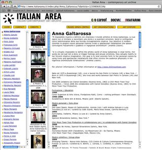 La Storia dell'Archivio - 3 - Italian Area, Risultati Italian Area.