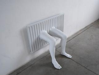 William Cobbing, Man in the Planet, Radiator 1, 2008 radiatore, gesso