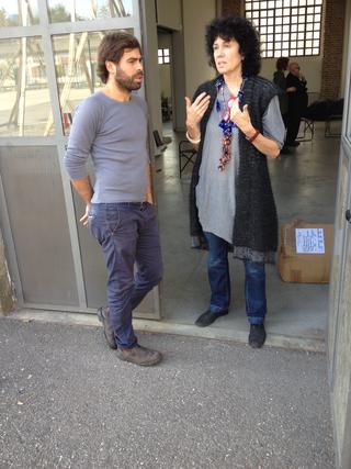 People | Artists, Patrizia Brusarosco e Pietro Spoto, sullo sfondo Urs Luthi, 2013