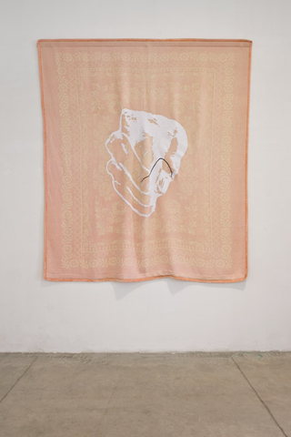 Loredana Di Lillo, Animal, Broken my heart, 2011 coperta, ricamo, seta 242 x 190 cm Foto di Zeno Zotti