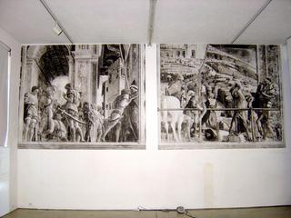 Arrivederci e Grazie, L'opera di Matteo Rubbi: carta stampata incollata a muro.