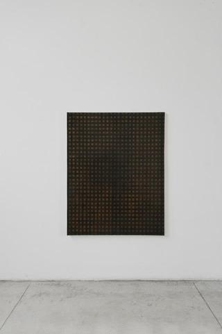 Angelo Sarleti, Antologia, Tarp/Trap o sul piano di salvataggio delle banche americane, 2012, olio su tela, 130 x 110 cm Foto di Davide Tremolada