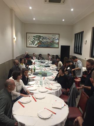 ENGAGE Public School for Social Engagement in Artistic Research, Cena finale con i partecipanti in un ristorante di Chinatown, scelto da Leone Contini.